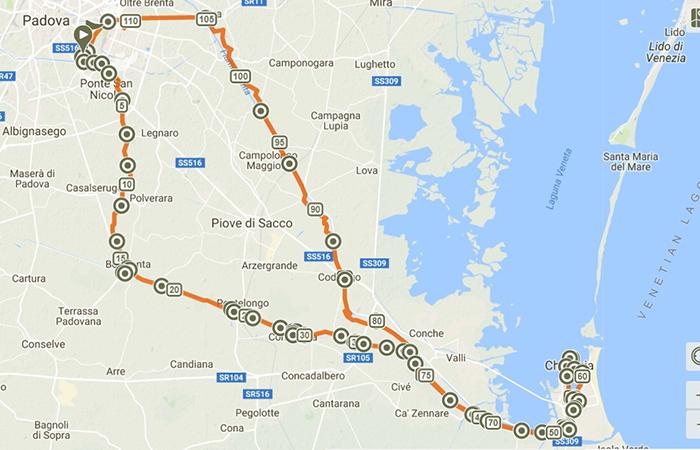 La via del mare Ca' Roman